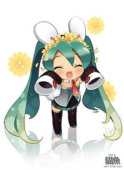 Kawaii hatsune miku chibi vocaloid pinterest anime - Cute anime miku ...