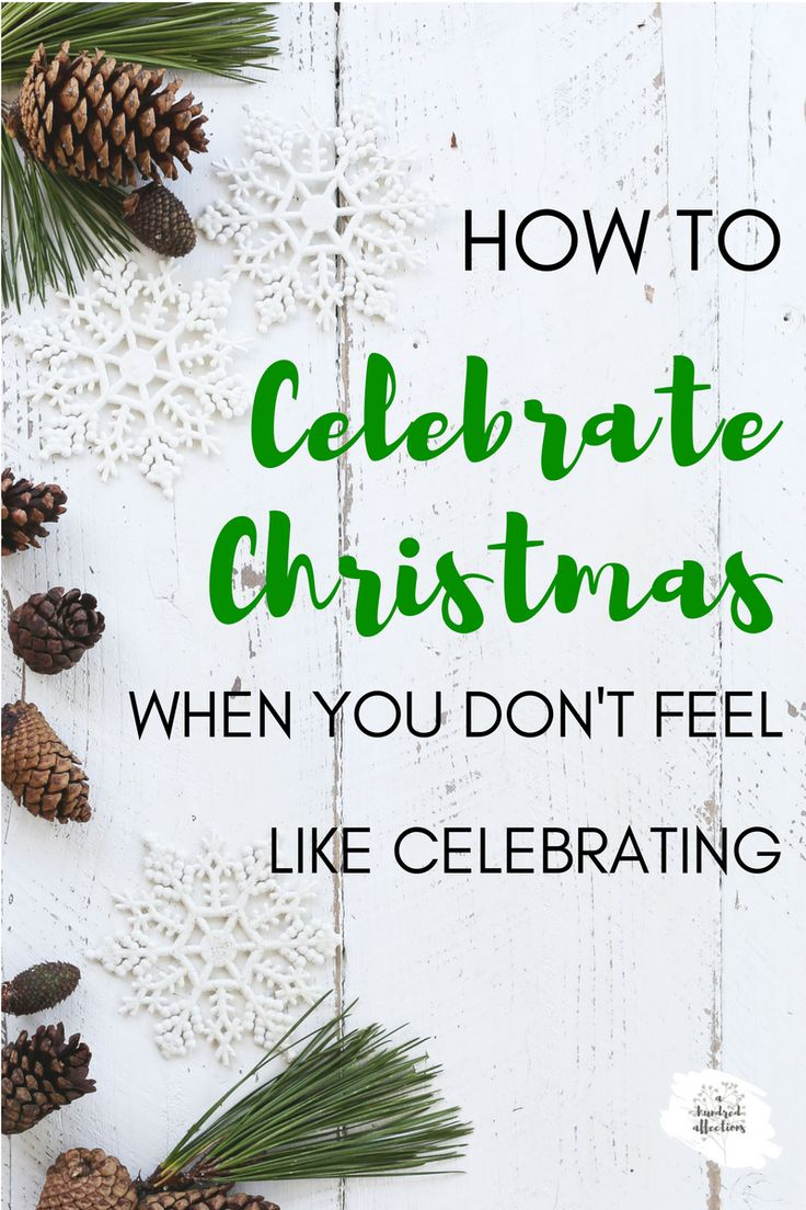 How to Celebrate Christmas When You Don't Feel Like Celebrating - A Hundred Affections