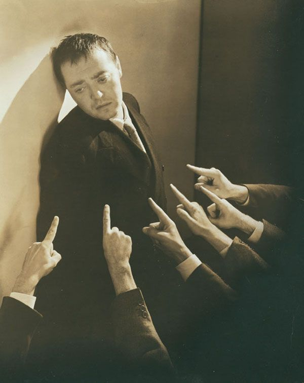 Peter Lorre as Raskolnikov in Crime and Punishment.  By Lusha Nelson