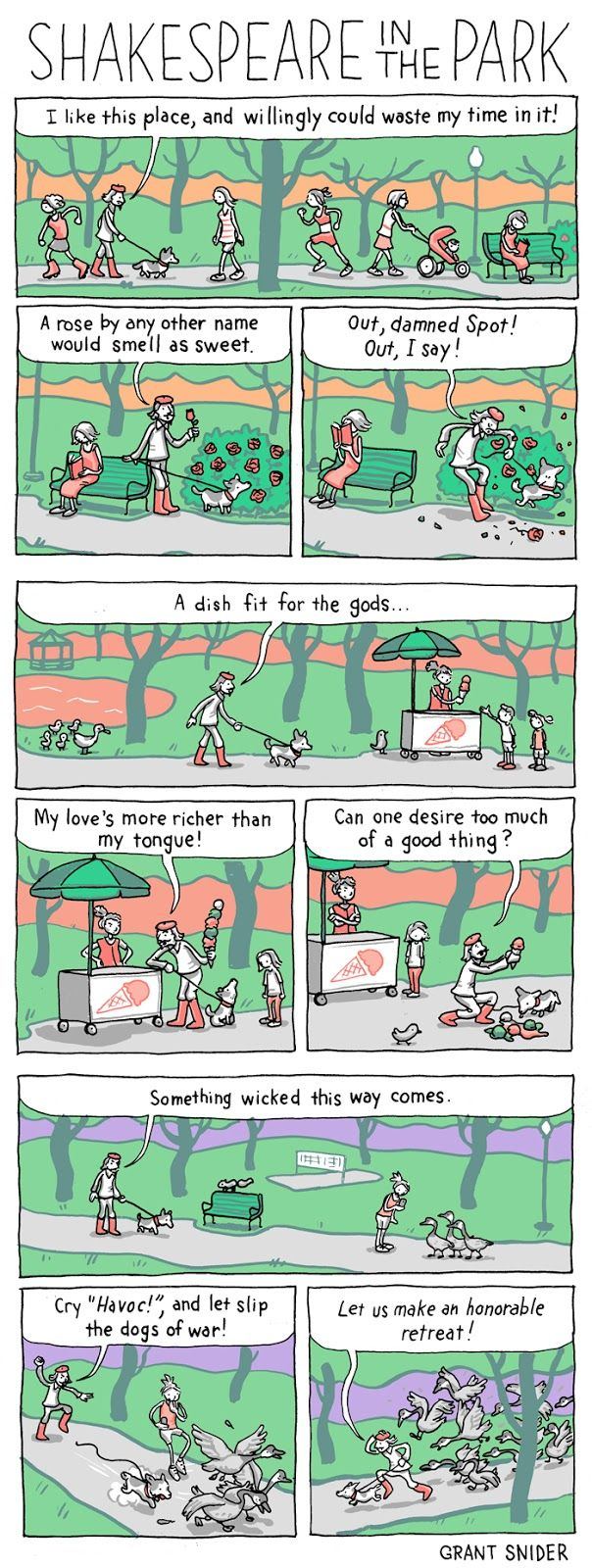 INCIDENTAL COMICS: Shakespeare in the Park