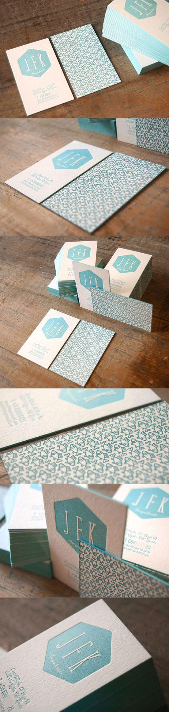 Painted Letterpress Business Card #BestBusinessCards #BusinessCardMaker