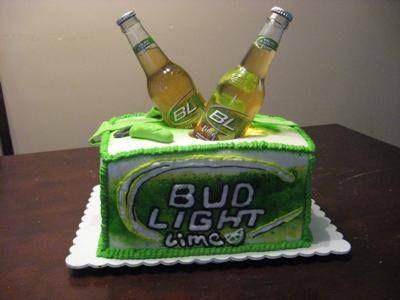 Bud Light Lime cake