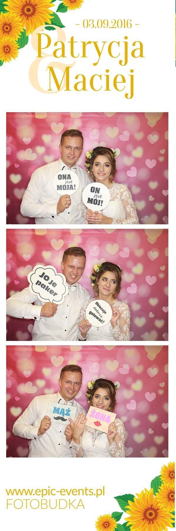 Patrycja & Maciej Wszystkiego co najpiękniejsze dla młodej pary <3   #fotobudka #photobooth #smile #fun #zdjęcie #wesele #uostrowskich #atrakcjanawesele  www.epic-events.pl
