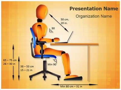 Check out our professionally designed and world-class Computer #Sitting #Posture #PPT template. These royalty #free Computer Sitting Posture presentation #backgrounds and #themes let you edit text and values and are being used very aptly by the industry professionals for #Office, #Ergonomic and such PowerPoint #presentations.
