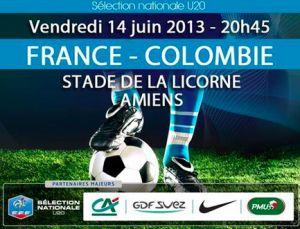 Match France Colombie au Stade de la Licorne le 14 juin 2013