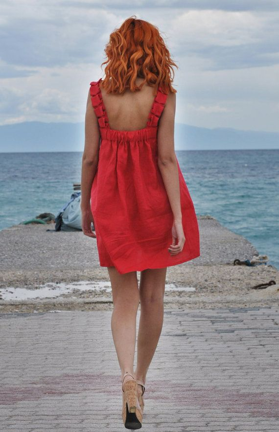Stunning natural linen Aphrodite dress by MuMusyros on Etsy, $180.00