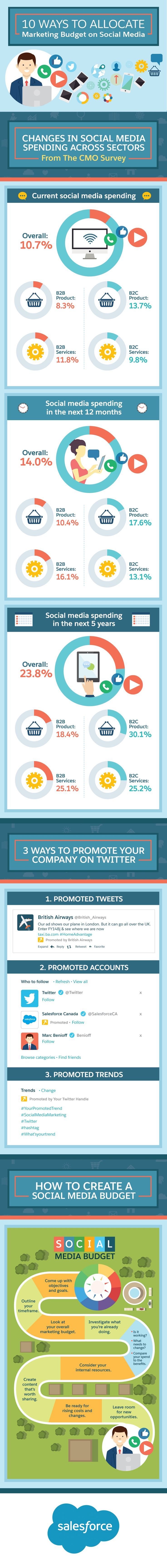 10 Ways to Use Your Marketing Budget to Advertise on Social Media - infographic   http://weathertightroofinginc.com