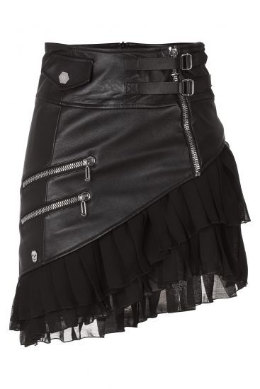 Jana Leather Skirt ~ Philipp Plein: