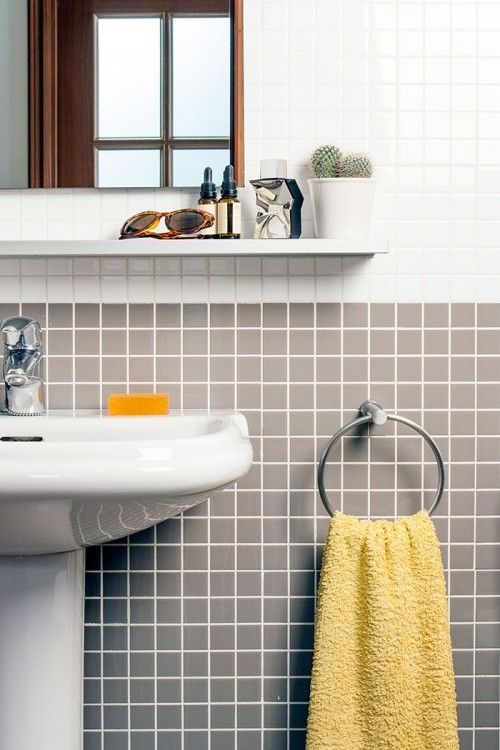 a great way to keep cost down is to use small tiles on the walls yellow