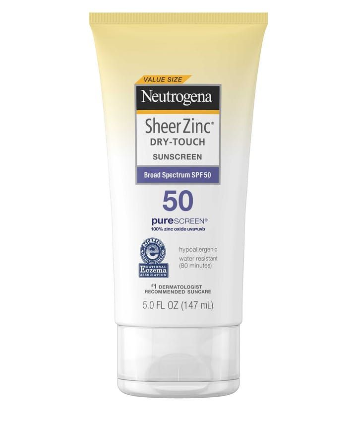 Sheer Zinc Dry Touch Sunscreen Broad Spectrum Spf 50 Neutrogena Spf 50 Sunscreen Lotion