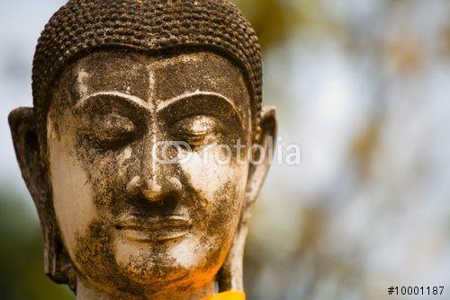 Face of buddha, zříceniny Ayutthaya, staré hlavní město Thajska