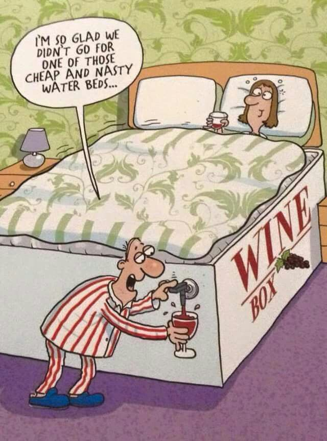 wine bed… have your bed & drink it too!!
