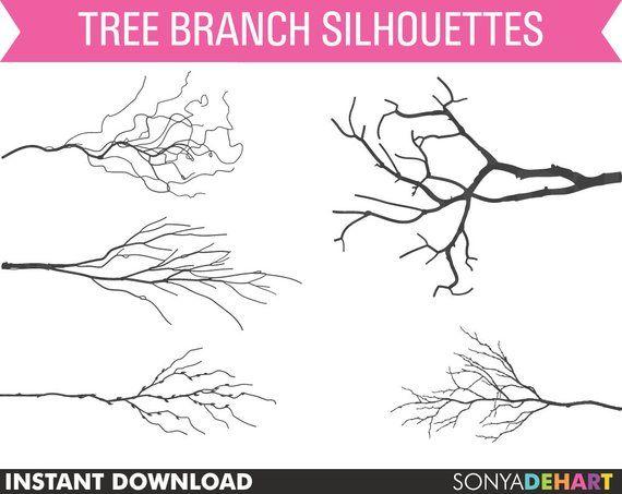 Tree Branch Clipart Tree Limb Clipart Branches Clipart Etsy Silhouette Clip Art Tree Tattoo Clip Art