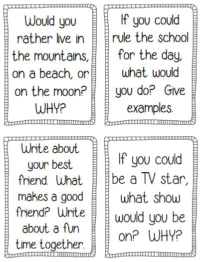 science writing prompts for 4th grade