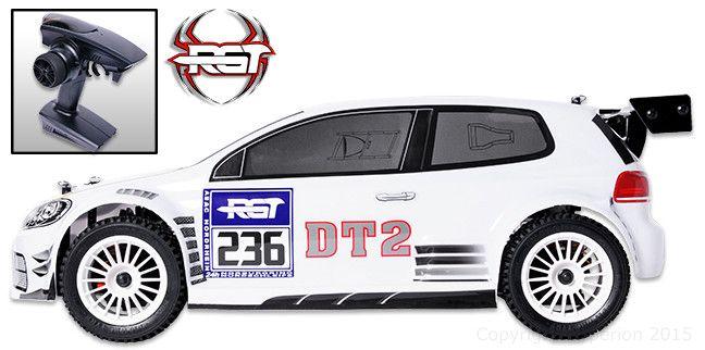 DT2 Rally White 1/10 RTR (バッテリー無し) Pro ブラシレスモーター付きモデル #RGT #RC #ラジコンカー #ラリー #ホビー #クリスマス #プレゼント