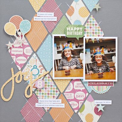 What a wonderful idea to use your scraps of scrapbooking paper in your layouts! ~stitching