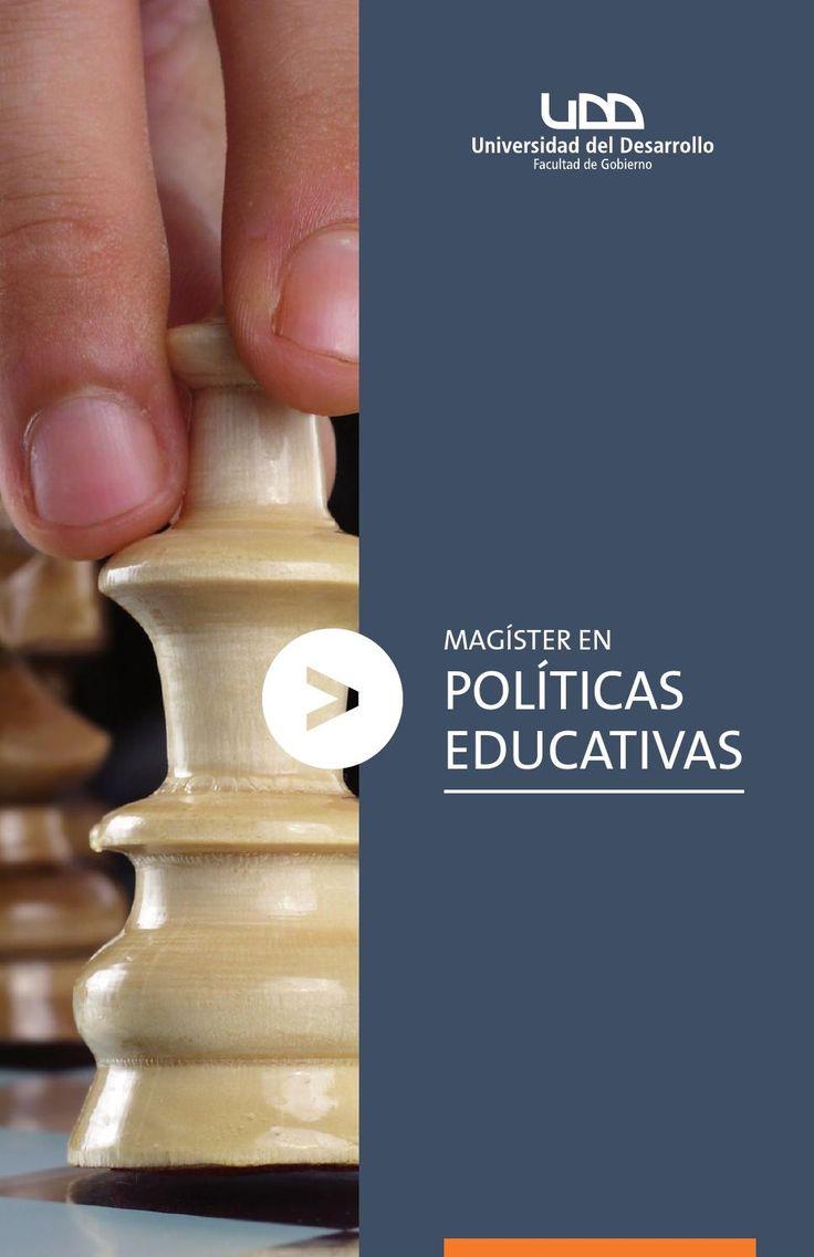 Folleto Magíster en Políticas Educativas MPED GobiernoUDD