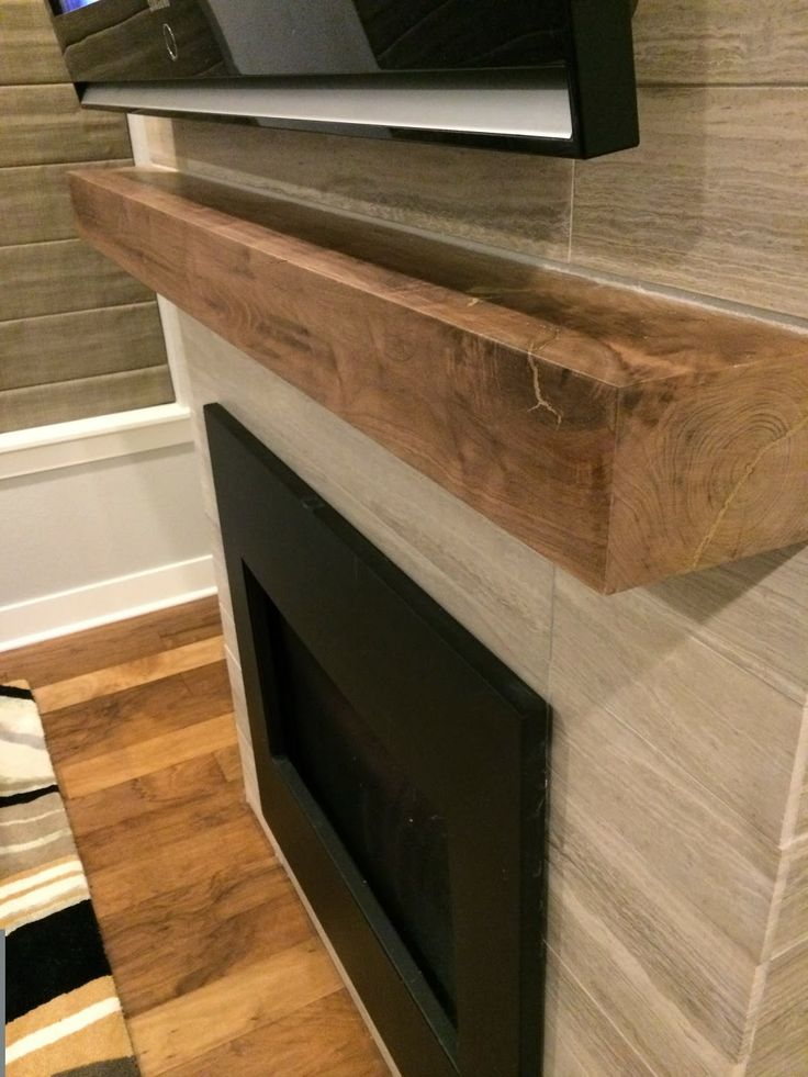 Walnut Mantle Daltile Chenille White Travertine Honed