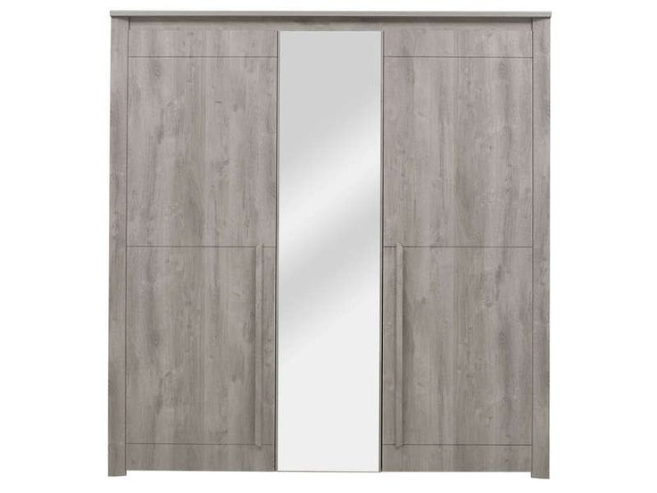 armoire 3 portes eden coloris ch ne gris prix promo armoire conforama ttc au lieu de. Black Bedroom Furniture Sets. Home Design Ideas