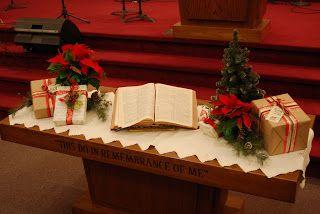 Church Altar Christmas Decorations