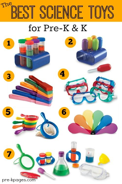 Best Science Toys for Preschool and Kindergarten. Fun, hands-on science tools to support STEM learning!
