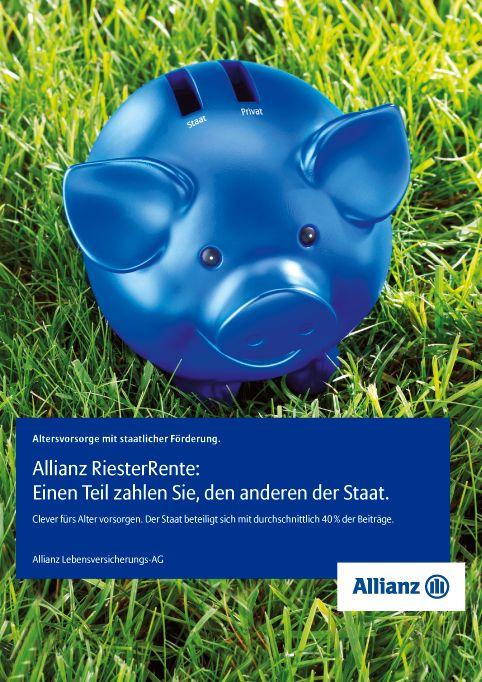 Allianz Aktivierungs-Kampagne Riester-Rente