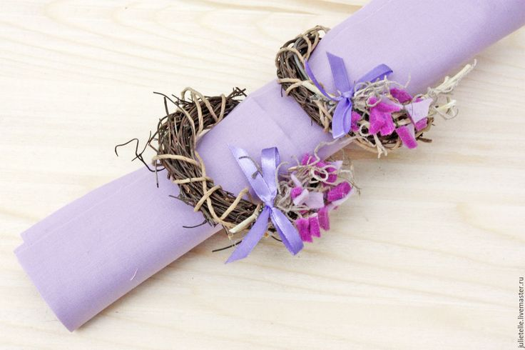Купить Кольца для салфеток Цветы - сиреневый, кольца для салфеток, венок, декор салфеток, поадрок