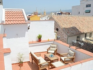 Penthouse apartment in Malaga city centre with private terrace