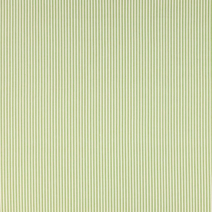 Jane Churchill Gilpin Stripe Curtain Fabric Green - Curtain Poles Emporium