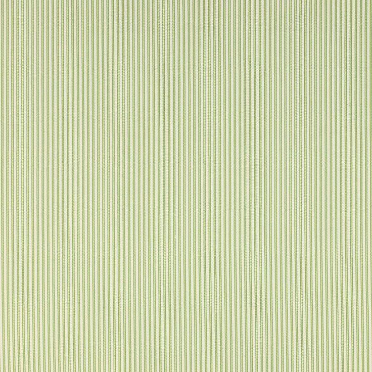 Jane Churchill Gilpin Stripe Curtain Fabric Green - Curtain Poles Emporium