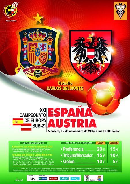YA PUEDES COMPRAR LAS ENTRADAS DEL ESPAÑA - AUSTRIA SUB 21   Fútbol Noticias Albacete Noticias deportes Selección Española Sub-21