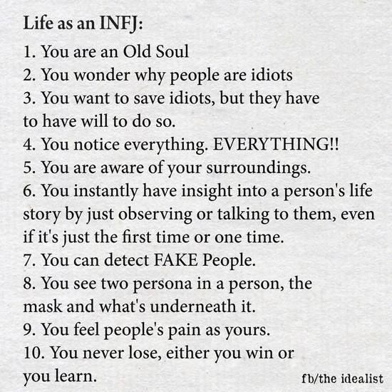 Life as an INFJ                                                                                                                                                     More