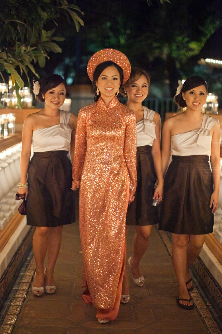Sparkly wedding #aodai