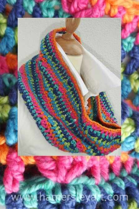 New Cowl made with stylecraft #cotton with #silk #Colour #color #yarn