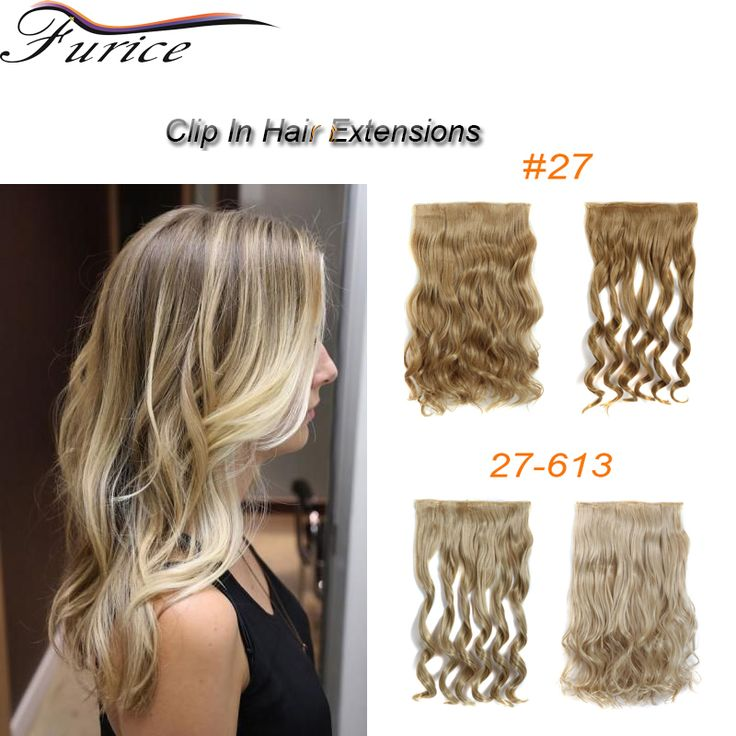 Long Curly Weave 5 Clip In Synthetic Hair Extension