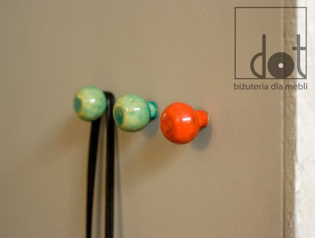 ceramic knobs used as a hook on the wall