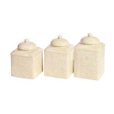 Cream Western Canister Set Western Kitchen and Dining Decor