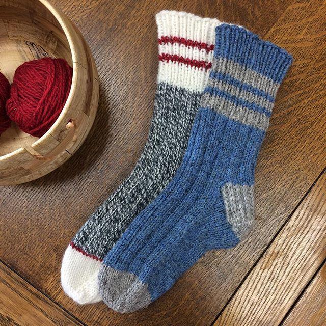 Warm, toasty toes. #briggsandlittletuffy #sockknitter4life #winter #yarnbowls