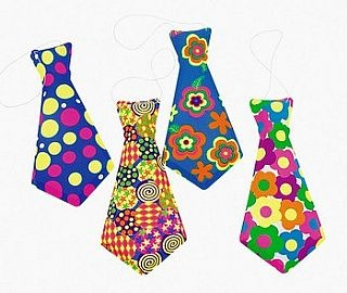 12 Plastic Fun Ties - Great for Clown Dressing Up., Themed Crafts, Circus & Clown Crafts, childrens crafts, children's craft supplies