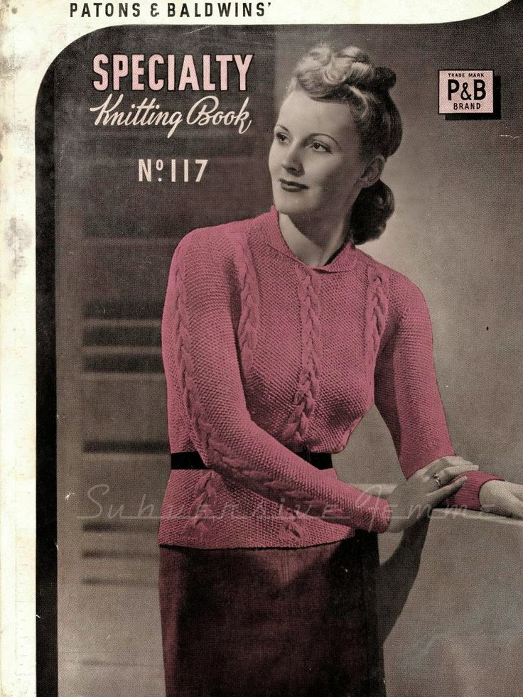 Curvy Month Pattern: Stella, a lady's jumper design (Patons Speciality Knitting No. 117)