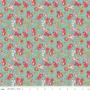 Blue Floral Linen & Lawn Light weight by Sue Daley - https://www.stitchesquilting.com/shop/blue-floral-linen-lawn-light-weight-by-sue-daley/