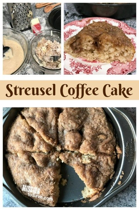 This easy Streusel Coffee Cake Recipe is modified from a classic Bisquick recipes magazine. It's a classic breakfast comfort food.  #breakfast #coffeecake #easyrecipe #recipe #streusel