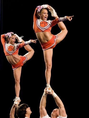 #Cheer, scorpion stunt Clemson Cheerleaders by sexyrexybamaman, via Flickr