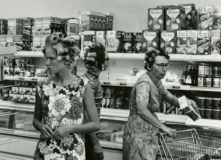 Grocery shopping, ca. 1960s
