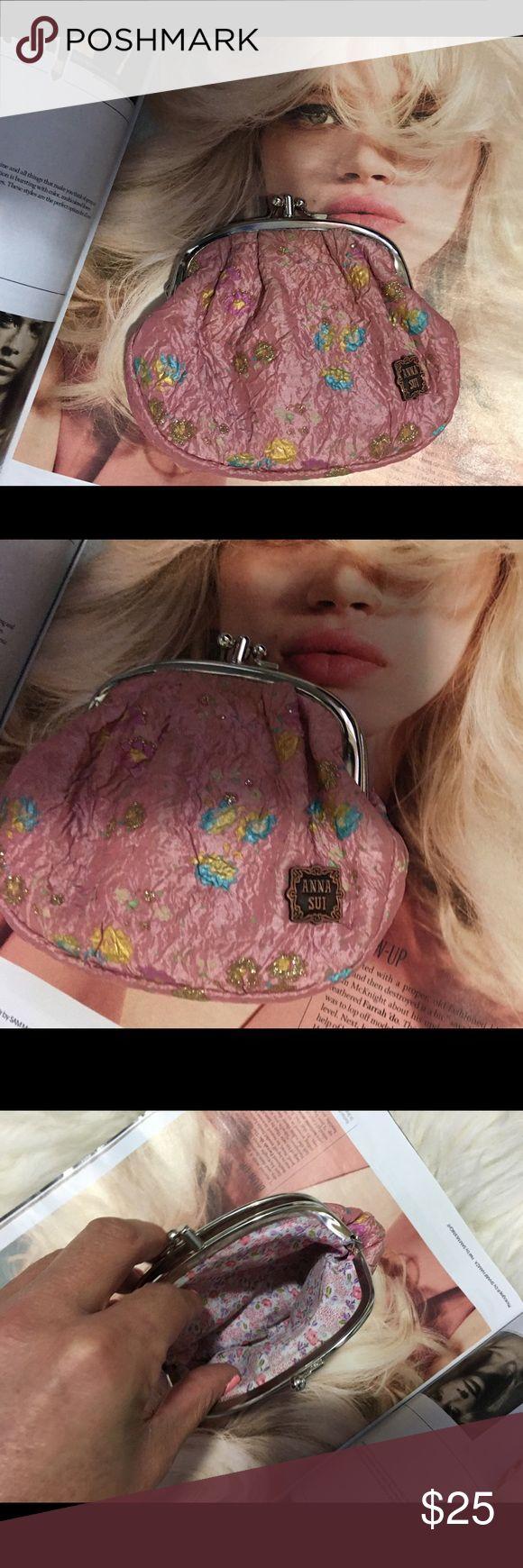 Anna Sui purse Small coin purse, Anthropologie bags