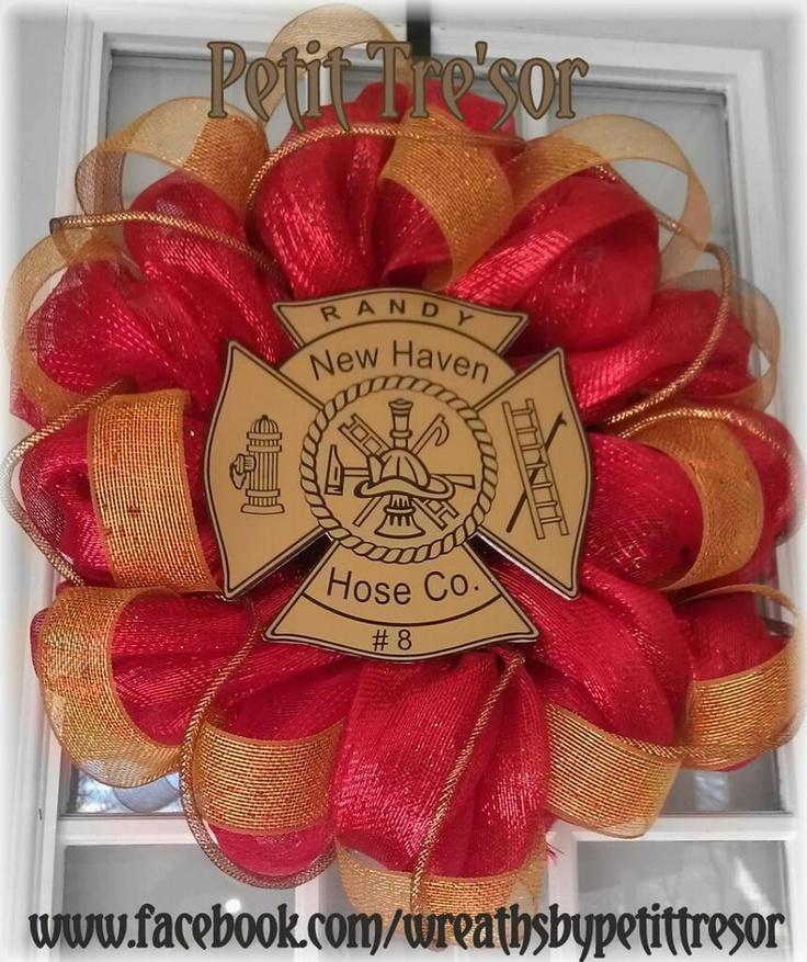 Fireman Wreath. $72.00, via Etsy.
