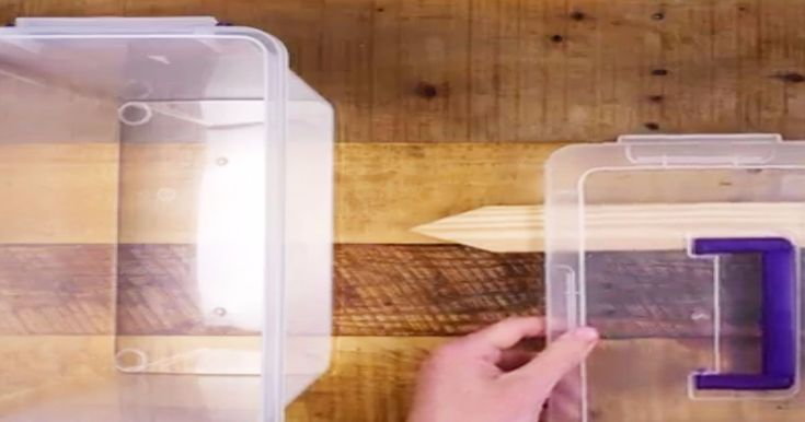 How to turn a cheap storage box into an awesome yarn storage container