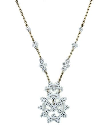 Take a look at this White Scroll Pendant Necklace by Jessica Simpson Collection on #zulily today!