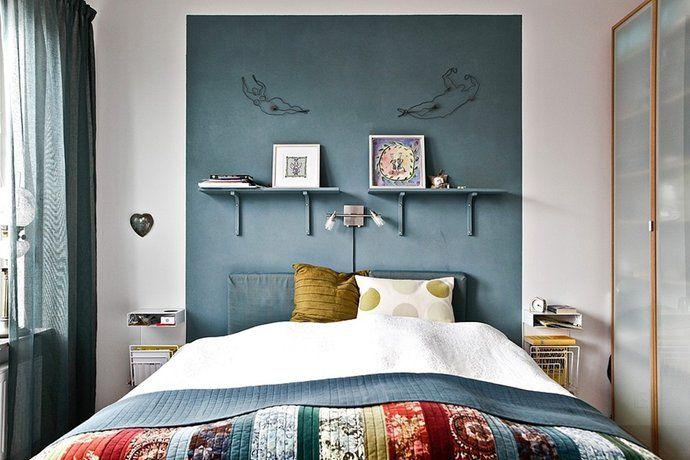 Bilder, Sovrum, Kudde, Säng, blått - Hemnet Inspiration