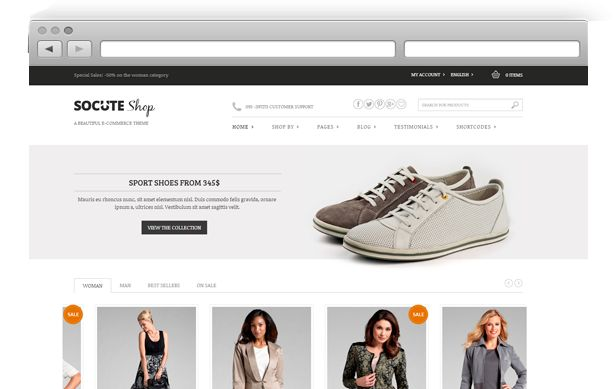 Socute – Multi-Purpose e-Commerce Theme